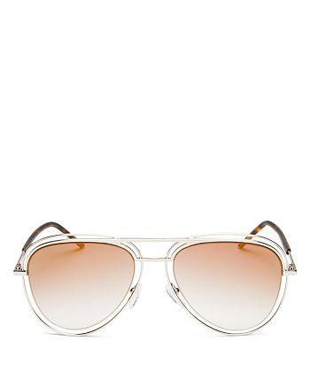 MARC JACOBS - Women's Mirrored Floating Aviator Sunglasses, 54mm