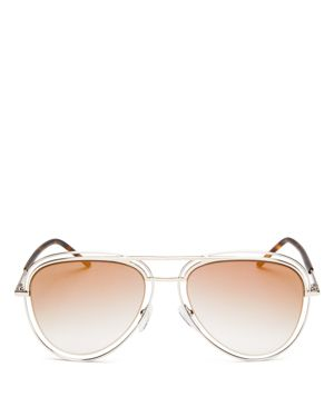 Marc Jacobs Mirrored Floating Aviator Sunglasses, 54mm