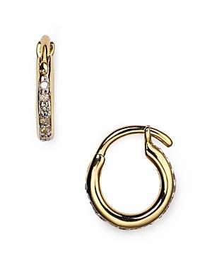 Adina Reyter Pave Huggie Hoop Earrings