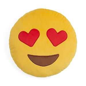 Throwboy Hearts Emoji Decorative Pillow, 14 Diameter
