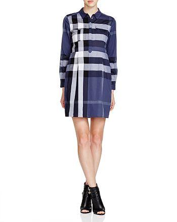 b8aa56d4b0f6 Burberry Peggie Check Shirt Dress