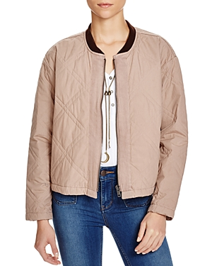 Free People Linear Quilted Bomber Jacket