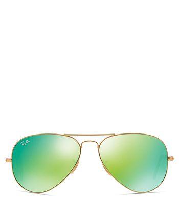 Ray-Ban - Unisex Mirrored Aviator Sunglasses, 58mm