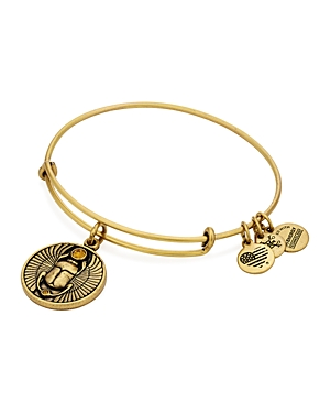 Alex and Ani Scarab Expandable Wire Bangle