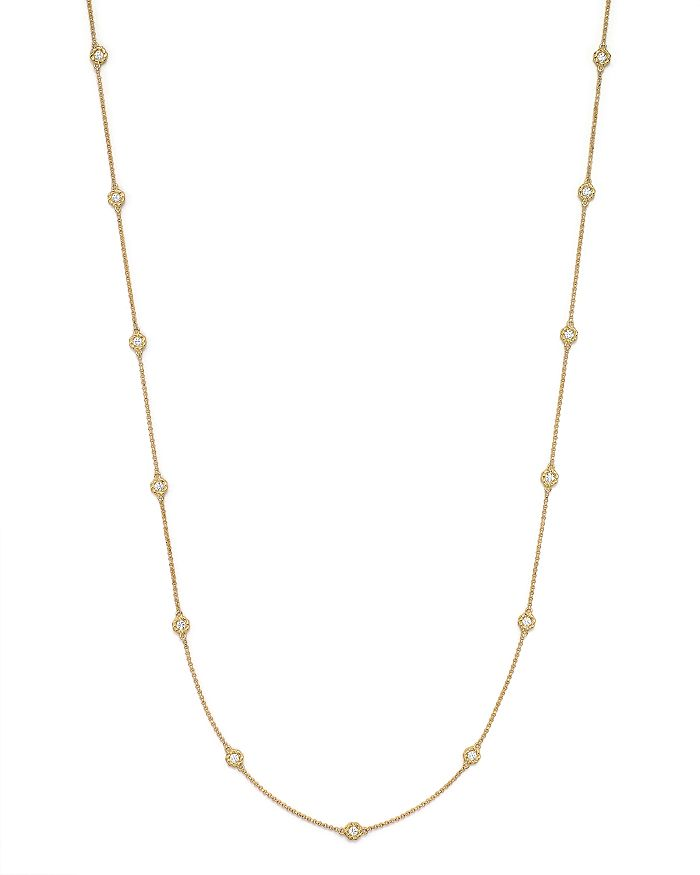 "Roberto Coin - 18K Yellow Gold Barocco Round Diamond Necklace, 31"""