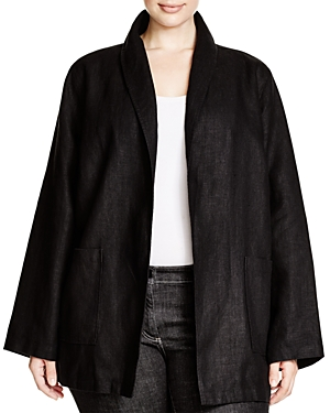 Eileen Fisher Plus Shawl Lapel Jacket plus size,  plus size fashion plus size appare