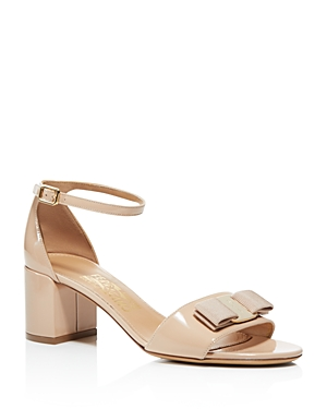 Salvatore Ferragamo Ankle Strap Block Heel Sandals