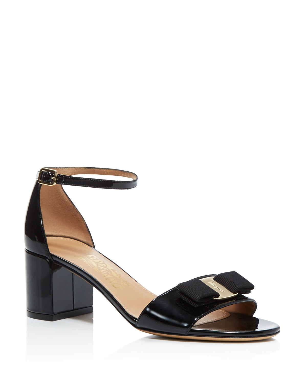 Salvatore Ferragamo Patent T-Strap Sandals discount latest INtH0D3