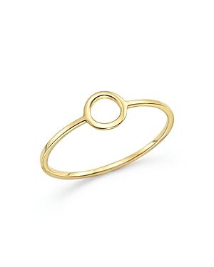 Mateo 14K Yellow Gold Circle Ring