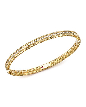 Roberto Coin 18K Yellow Gold Symphony Braided Bangle Bracelet with Diamonds-Jewelry & Accessories