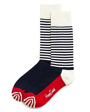 Men's Half Stripe Dress Socks
