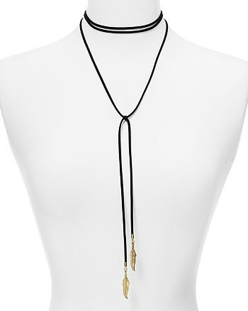 "AQUA - Dallas Feather Choker Necklace, 12"" - 100% Exclusive"