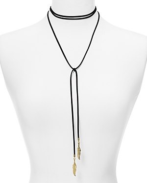 Aqua Dallas Feather Choker Necklace, 12 - 100% Exclusive