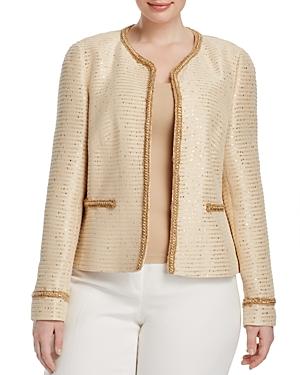 Basler Plus Sequin Tweed Jacket