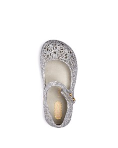 Mini Melissa - Girls' Campana Glitter Zigzag Mary Jane Flats - Walker, Toddler