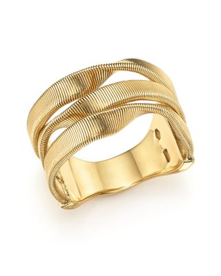 18K YELLOW GOLD MARRAKECH SUPREME THREE STRAND TWISTED RING