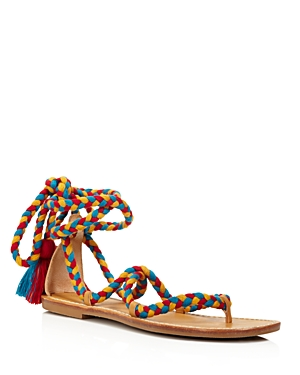 Soludos Braided Gladiator Lace Up Sandals