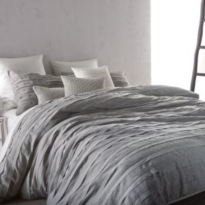 Dkny Loft Stripe Grey Duvet Cover, King