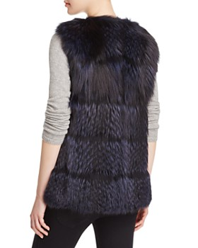 Maximilian Furs - Collarless Fox Fur Vest