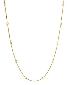 """Roberto Coin - Diamond Necklace Set In 18K Yellow Gold, 16"""""""