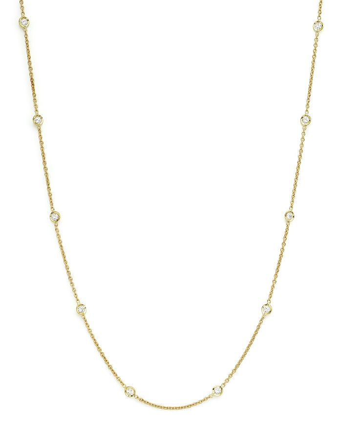 Roberto Coin - Diamond Necklace Set In 18K Yellow Gold, 16""