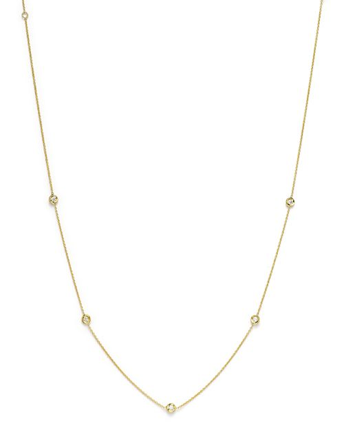 """Roberto Coin - 18K Yellow Gold Diamond Station Necklace, 16"""""""