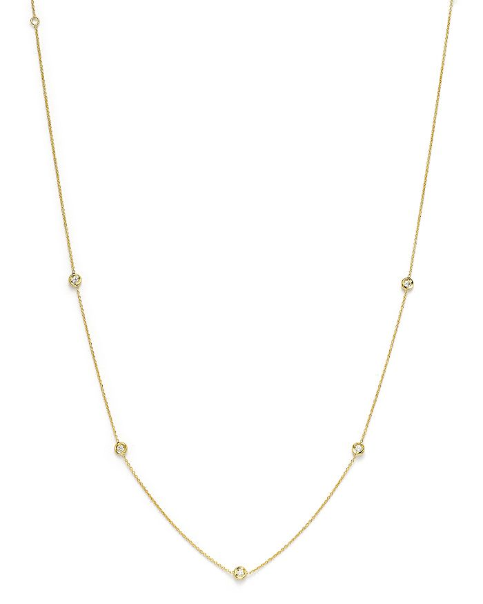 Roberto Coin - 18K Yellow Gold Diamond Station Necklace, 16""