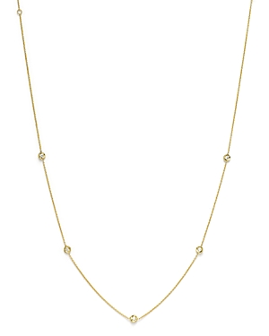 Roberto Coin 18K Yellow Gold Diamond Station Necklace, 16