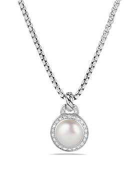 David Yurman - Albion Pearl Necklace with Diamonds