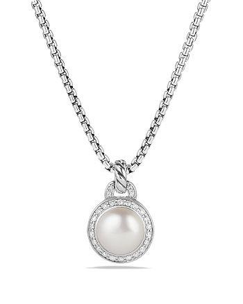David Yurman - Albion Pearl Necklace with Diamonds