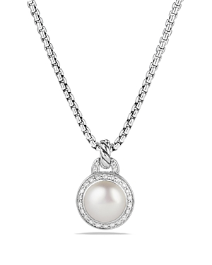 David Yurman Albion Pearl Necklace with Diamonds