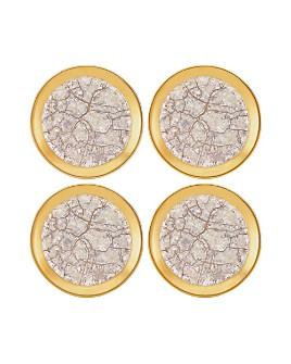 Michael Wainwright - Tempio Luna Gold Canapé Plate, Set of 4