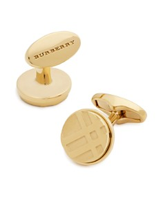 Burberry - Check Cufflinks