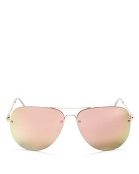 Quay - Women's Muse Mirrored Brow Bar Aviator Sunglasses, 62mm