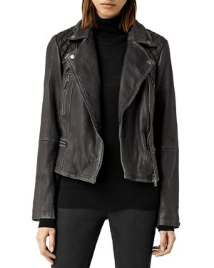 Allsaints Cargo Quilted Leather Biker Jacket