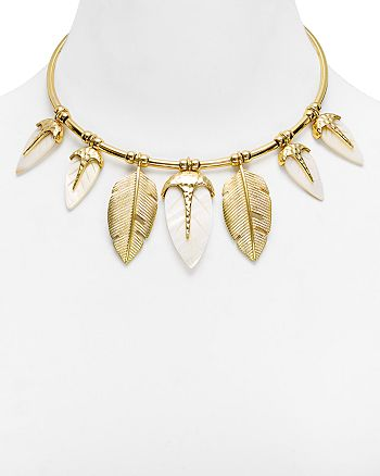 AQUA - Camille Leaf Drop Collar Necklace - 100% Exclusive