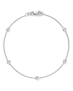 Bloomingdale's - Diamond Station Bracelet in 14K White Gold, .25 ct. t.w. - 100% Exclusive