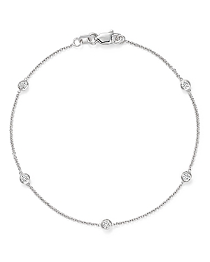 Diamond Station Bracelet in 14K White Gold, .25 ct. t.w.