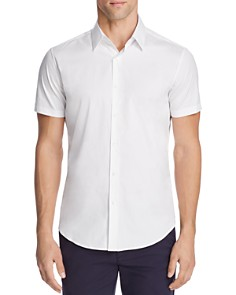 Theory Sylvain Wealth Short Sleeve Slim Fit Button-Down Shirt - Bloomingdale's_0