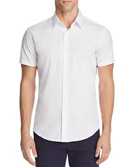 Theory - Sylvain Wealth Short Sleeve Slim Fit Button-Down Shirt