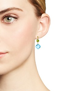 Bloomingdale's - Peridot and Blue Topaz Drop Earrings in 14K Yellow Gold - 100% Exclusive
