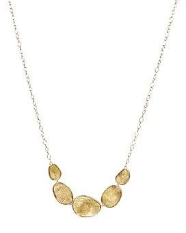 "Marco Bicego - 18K Yellow Gold Lunaria Half Collar Necklace, 16.5"""