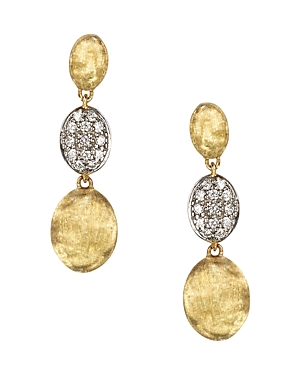 Marco Bicego Diamond Siviglia Earrings in 18K Yellow Gold