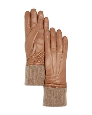 Bloomingdale's Cashmere Lined Leather Gloves - 100% Exclusive at Bloomingdale's