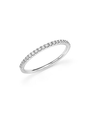 Bloomingdale's - Diamond Micro Pavé Band in 14K White Gold, 0.15 ct. t.w. - 100% Exclusive