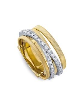 29cdd9b9b Marco Bicego - 18K Yellow Gold Goa Five Row Ring with Diamonds