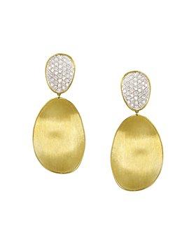 Marco Bicego - Diamond Lunaria Two Drop Large Earrings in 18K Gold