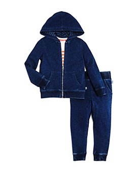 Splendid - Boys' Knit Hoodie, Jogger Pants & Striped Tee - Little Kid