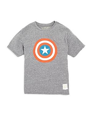 Retrobrand Boys Captain America Target Tee  Sizes Sxl