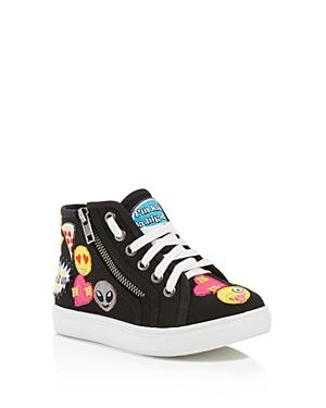 Steve Madden Girls' Emoji High Top Sneakers - Little Kid, Big Kid